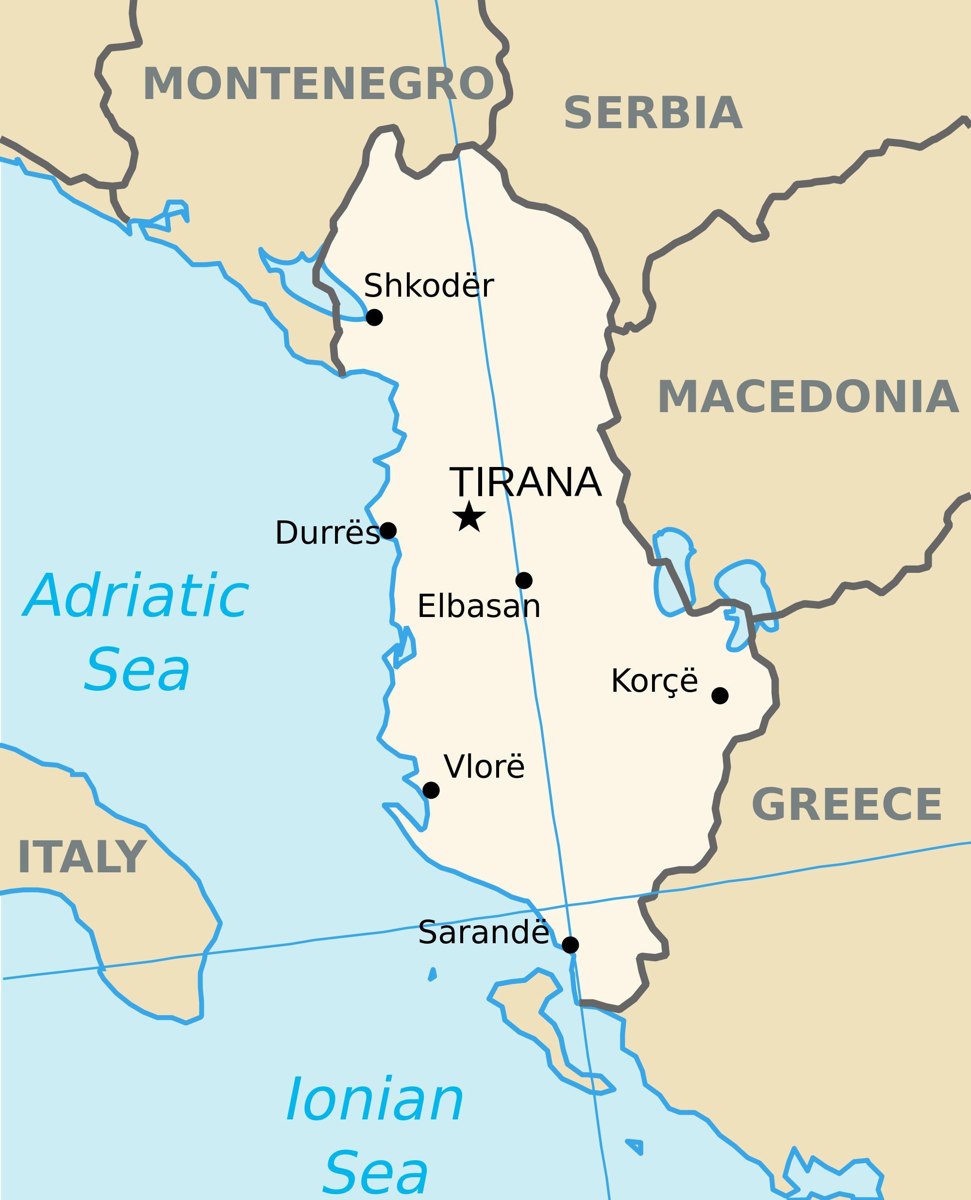 Karte Albanien.Saranda Albanien Karte Map Saranda Albanien Europa Süd Europa